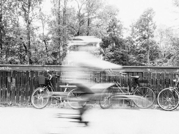 Ghost Rider Cyclist