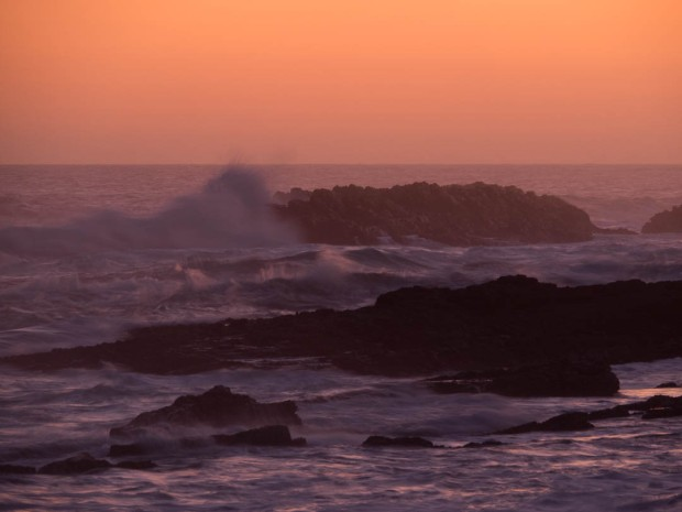 Dusk at Storms River Mouth in Tsitsikamma National Park
