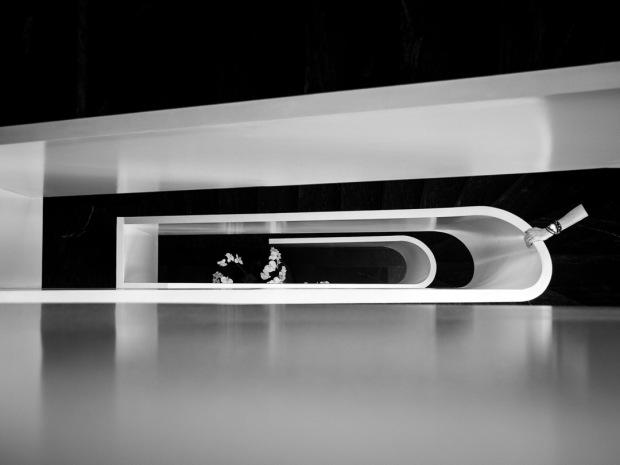 Minimalistic monochrome staircase